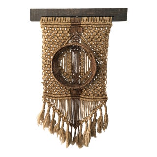 1970s Boho Chic Macrame Wall Art For Sale