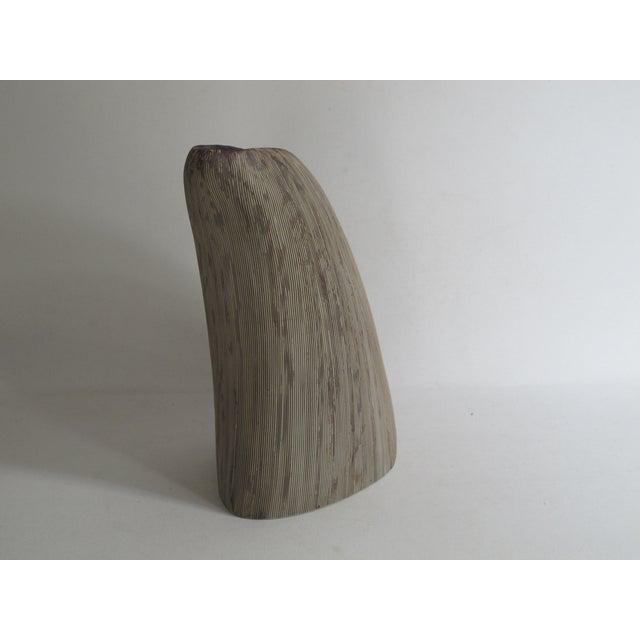 Asymmetrical Sgraffito Line Ceramic Vase - Image 5 of 6