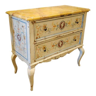 Italian Hand-Painted Commode For Sale
