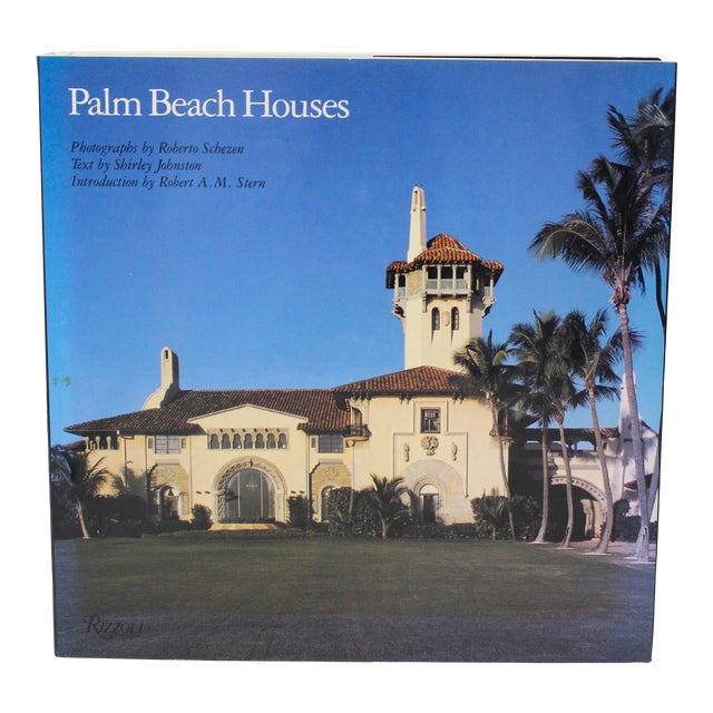 """1st Ed 1991 Rizzoli """"Palm Beach Houses"""" Coffee Table Book by Shirley Johnston For Sale"""