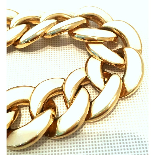 Late 20th Century 20th Century Les Bernard Gold & Enamel Chain Link Choker Necklace For Sale - Image 5 of 9