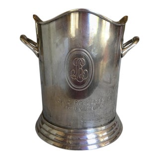 Louis Roederer Silver Plate Champagne Bucket with Handles, 20th Century, Stamped For Sale