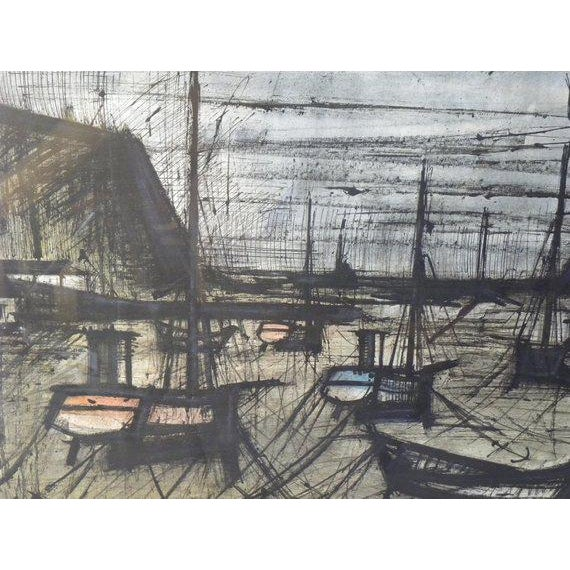 Gray Vintage French Expressionist Bernard Buffet Lithograph For Sale - Image 8 of 9