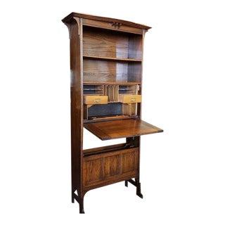 Edwardian Scottish Oak Bookcase / Bureau C.1910 For Sale
