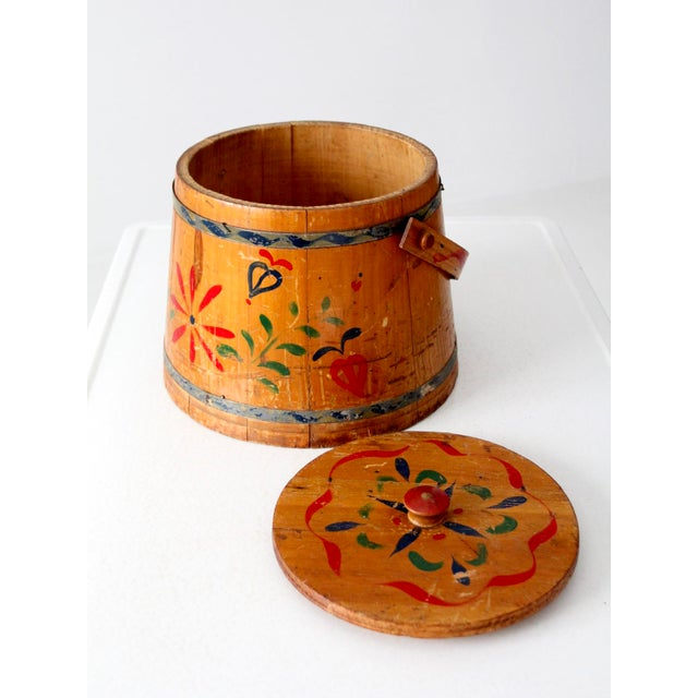Early 20th Century Antique Painted Sugar Bucket For Sale - Image 5 of 10