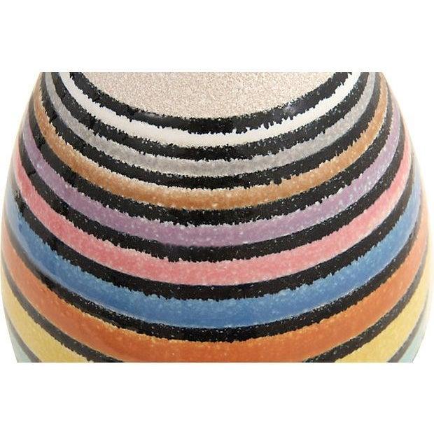 Mid-Century Multicolor Stripe Lamp - Image 6 of 9