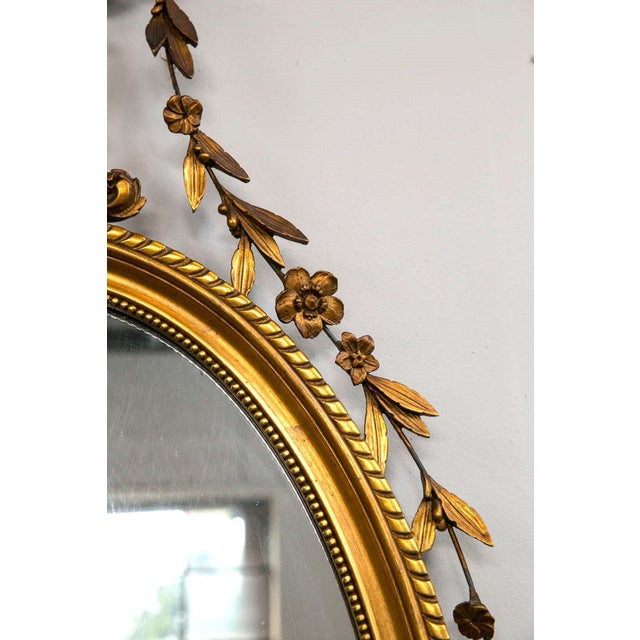Adams Style Giltwood and Gesso Carved Mirror - Image 5 of 7