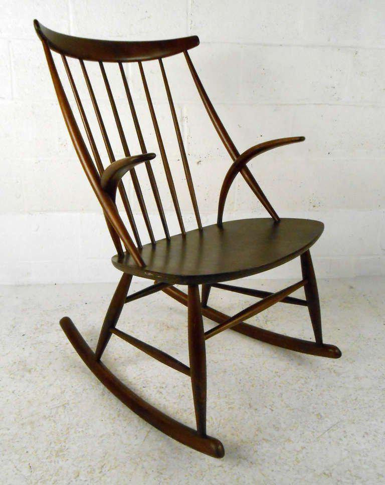 Scandinavian Modern Illum Wikkelso Rocking Chair   Image 2 Of 6