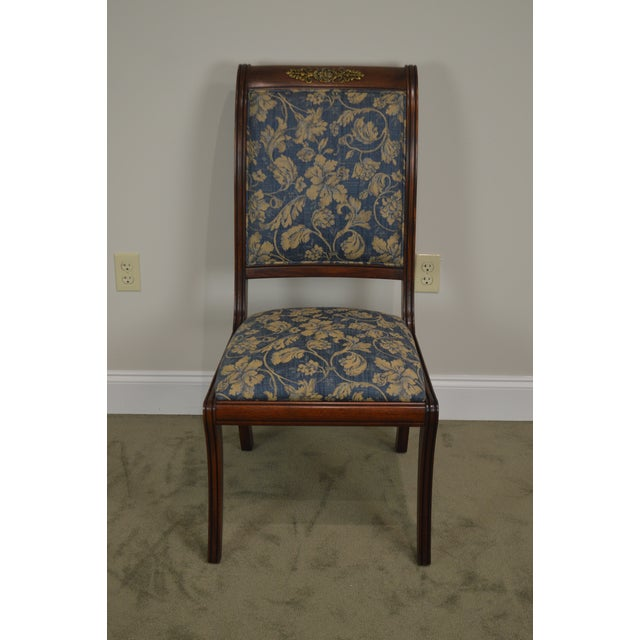 Henredon Natchez Collection Set of 10 Mahogany Regency Style Dining Chairs For Sale In Philadelphia - Image 6 of 13