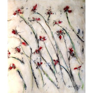 """""""Field"""" Contemporary Floral Painting For Sale"""