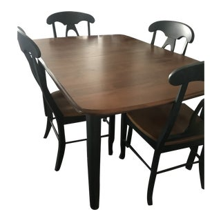Dining Room Table and Four Chairs From Shermag Portfolio Collection For Sale
