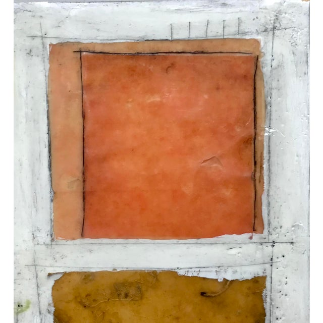 """White Gina Cochran """"Necessity of Play No. 8"""" Encaustic Collage Painting For Sale - Image 8 of 9"""