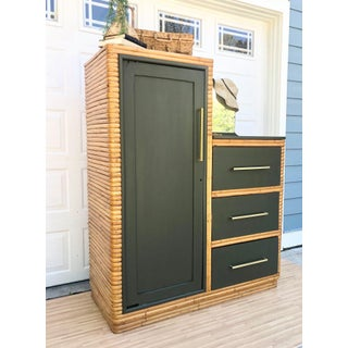 1960s Vintage Wrapped Rattan Armoire Preview