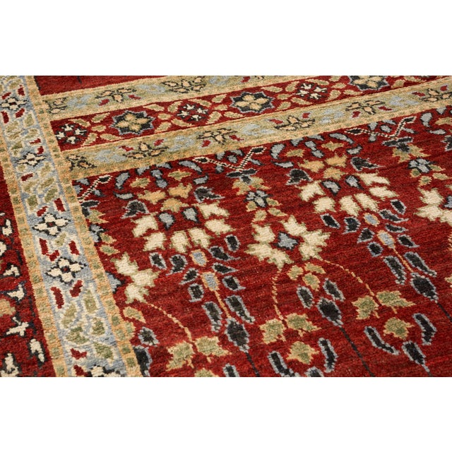 Contemporary Schumacher Meetra Area Rug in Hand-Knotted Wool Silk, Patterson Flynn Martin For Sale - Image 3 of 7