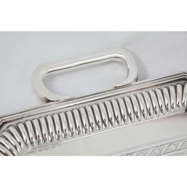 Silver Plated Server For Sale - Image 4 of 6