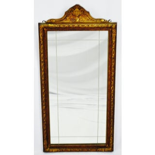 Art Deco Carved Wood Gilt Framed Wall Mirror Preview