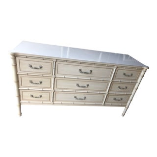 1970s Hollywood Regency Henry Link Faux Bamboo Dresser