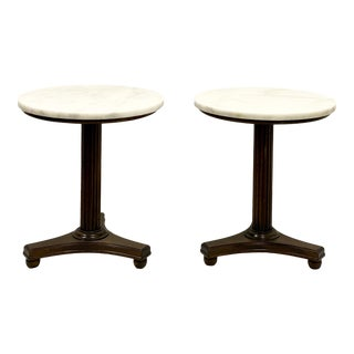 Neo-Classical Marble Top Side Tables - a Pair For Sale