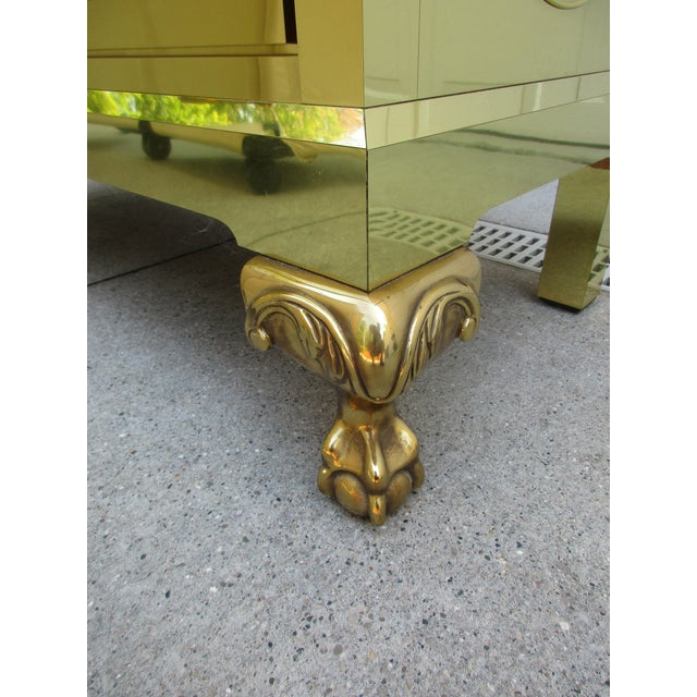 Brass Clad Chest of Drawers With Marble Top For Sale - Image 6 of 11