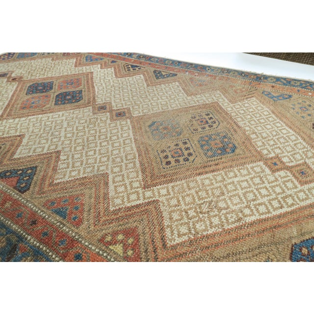 Islamic Vintage Persian Rug- 3′2″ × 4′12″ For Sale - Image 3 of 5