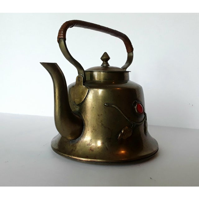 Vintage Chinese Brass Teapot For Sale - Image 4 of 5