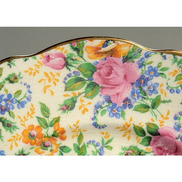 1930s James Kent Rosalynde Chintz Salad Plate - Set of 4 For Sale - Image 5 of 8