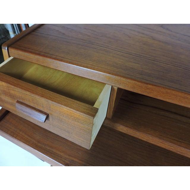 Arne Wahl Iversen Danish Modern Teak Secretary Desk Model 70 For Sale In Philadelphia - Image 6 of 12