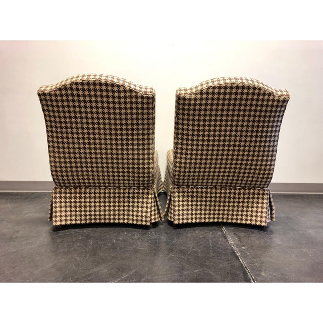 2000s Theodore Alexander Althorp Living History Herringbone Slipper Chairs For Sale - Image 5 of 13