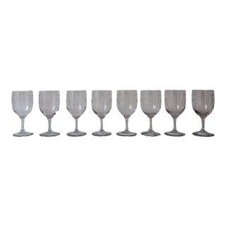 Napoleon III Marie Antoinette Wine Glasses - Set of 8 For Sale