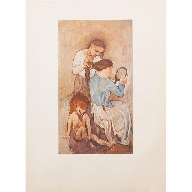 """1950s Picasso """"La Coiffure"""" Original Period Lithograph For Sale - Image 9 of 10"""