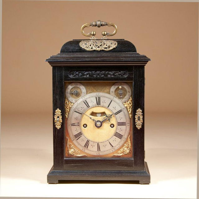 Charles II Ebony Table Clock by Thomas Tompion For Sale In New York - Image 6 of 6