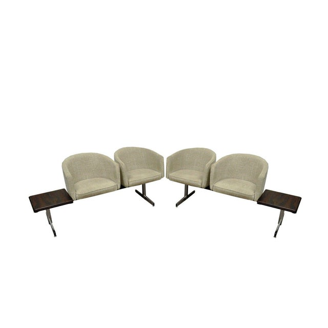 Vintage Mid-Century Danish Modern Rosewood End Tables Club Chairs Sectional Sofa - 2 Piece For Sale - Image 13 of 13