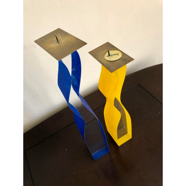 Postmodern Cec LePage Lucite Candlesticks For Sale - Image 3 of 9