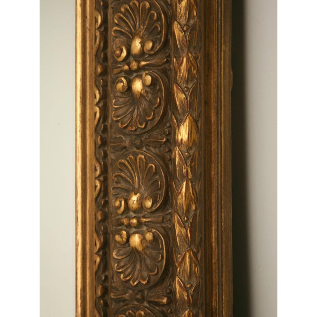 Floor-Size 19th Century English Traditional Giltwood Reproduction Mirror For Sale - Image 4 of 9