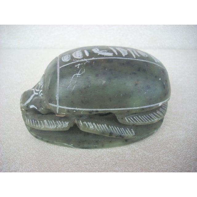 Egyptian Soapstone Scarab Beetle - Image 2 of 4