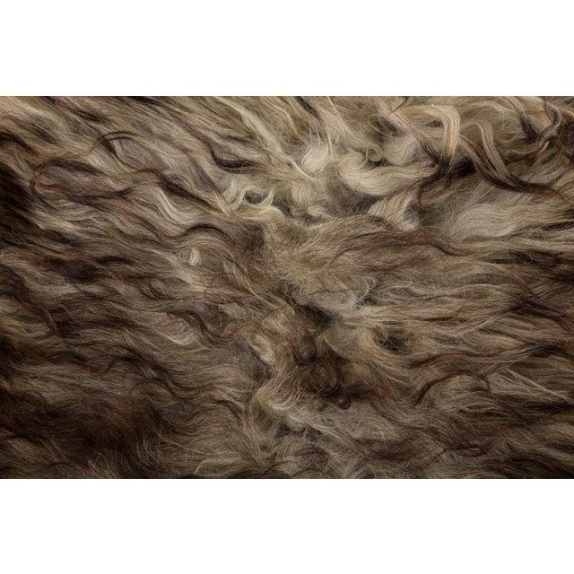 "2010s Contemporary Long Wool Sheepskin Pelt, Handmade Rug - 2'2""x3'6"" For Sale - Image 5 of 6"