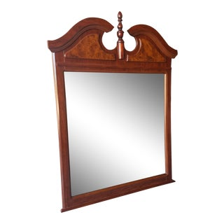 Chippendale Style Burlwood and Pine Wall Mirror