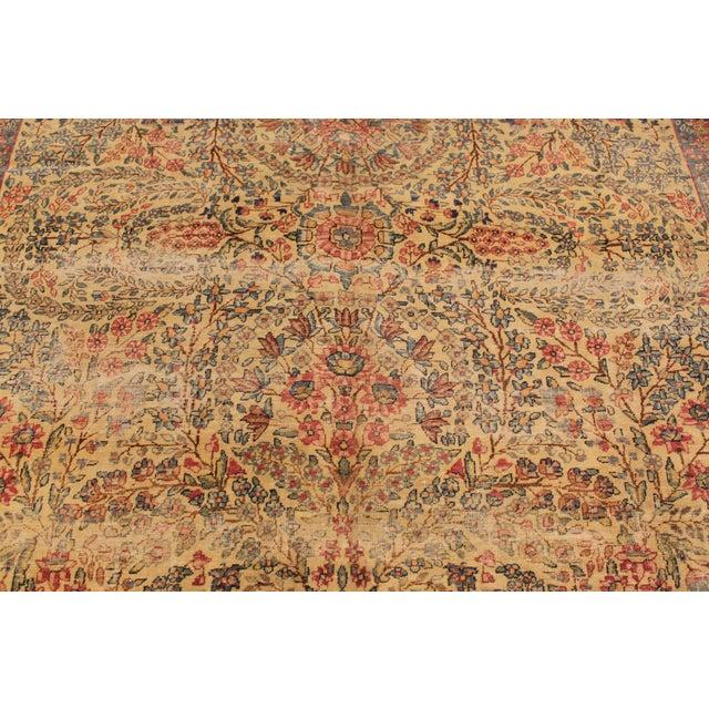 "Textile Apadana Antique Persian Kerman Rug - 7' x 9'11"" For Sale - Image 7 of 9"
