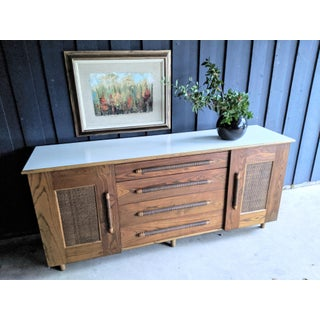 Boho Chic Bamboo Ficks Reed-Style Dresser Credenza Preview