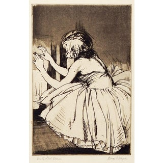 The Ballet Dancer Etching by Rosa Hope For Sale
