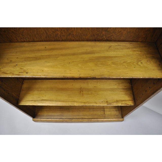 Oak Mid Century Mission/Arts and Crafts Style Oak Two-Shelf Bookcase For Sale - Image 7 of 13