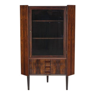 Mid-Century Modern Danish Rosewood Corner Cabinet For Sale