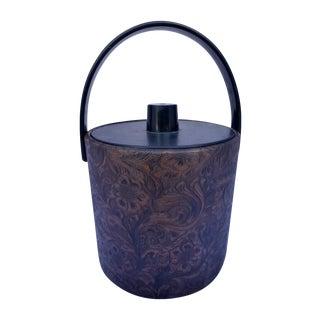 Mid-Century Modern Floral Ice Bucket