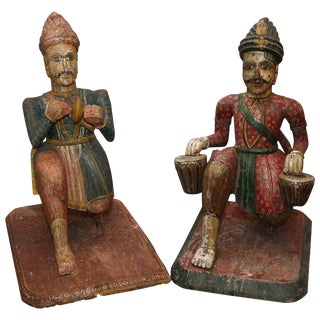 Pair of Rare Life-Size Anglo-Indian Figures For Sale