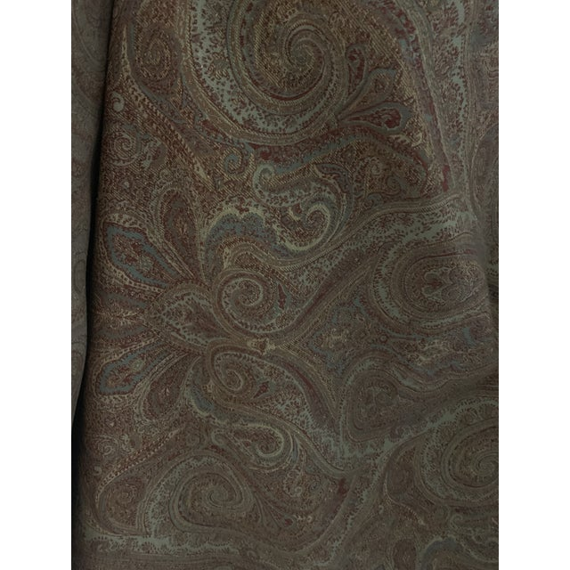 Ralph Lauren Ralph Lauren Assyrian Paisley Moss For Sale - Image 4 of 4