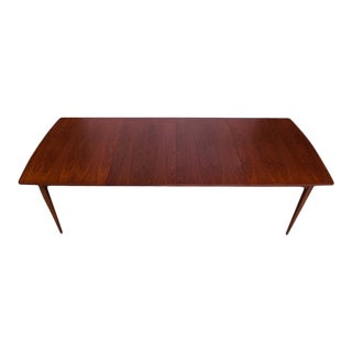 Midcentury Walnut Extension Dining Table by Kipp Stewart for Drexel Declaration For Sale