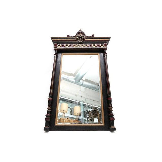 Hollywood Regency Regency Style Overmantel Mirror For Sale - Image 3 of 8