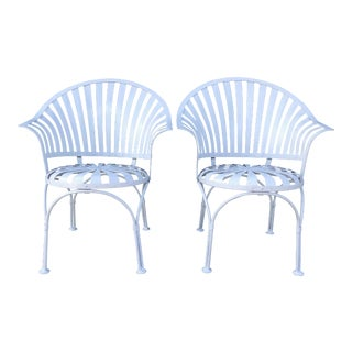 Francois Carre Sunburst Chairs - a Pair For Sale
