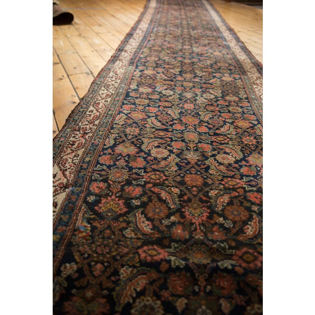 "1930s Vintage Hamadan Rug Runner - 3'8"" X 22'9"" For Sale - Image 5 of 13"