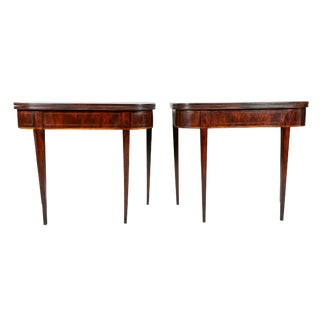 Pair of George III Mahogany Games Tables For Sale